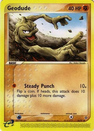 Geodude card for EX Dragon