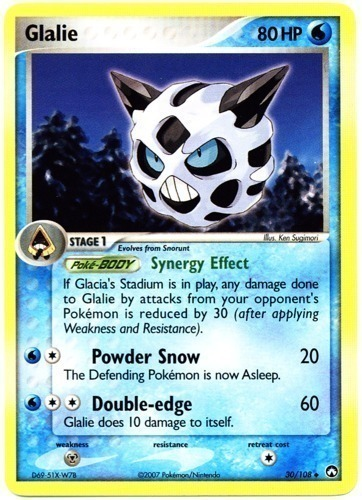 Glalie card for EX Power Keepers