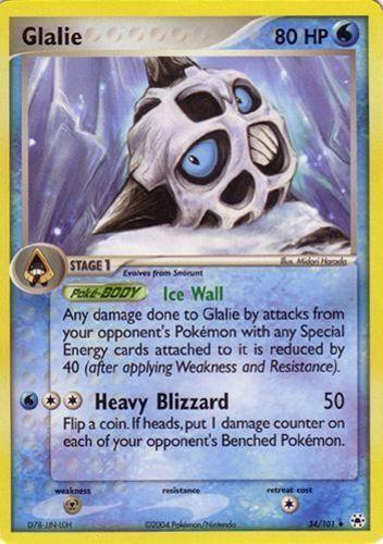 Glalie card for EX Hidden Legends