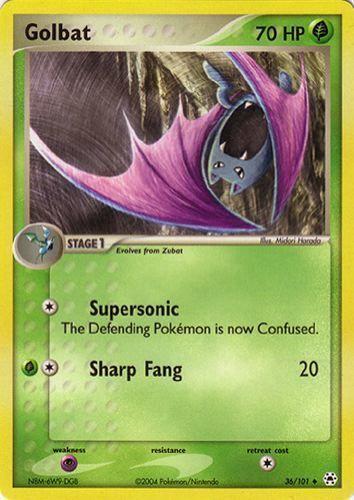 Golbat card for EX Hidden Legends