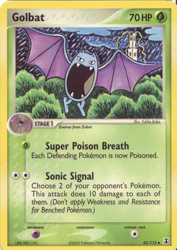 Golbat card for EX Delta Species
