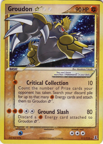 Groudon card for EX Delta Species