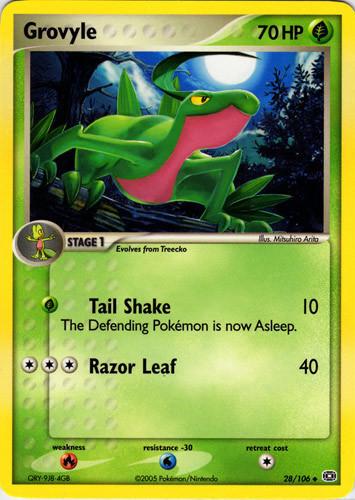 Grovyle card for EX Emerald