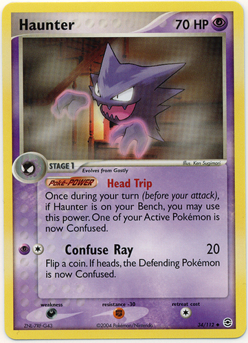 Haunter card for EX FireRed & LeafGreen