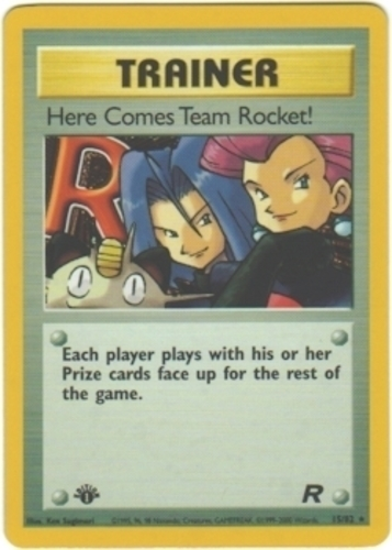 Here Comes Team Rocket! card for EX Team Rocket Returns