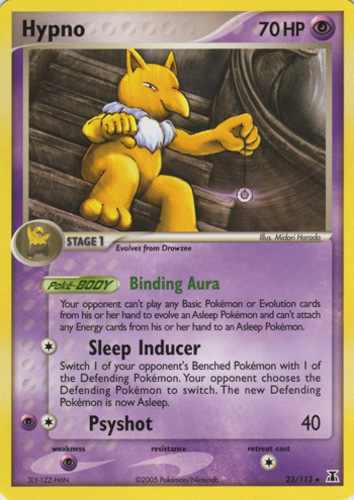 Hypno card for EX Delta Species