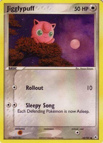 Jigglypuff card for EX Hidden Legends