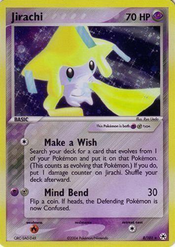 Jirachi card for EX Hidden Legends