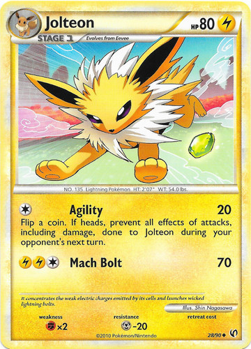 Jolteon card for Undaunted