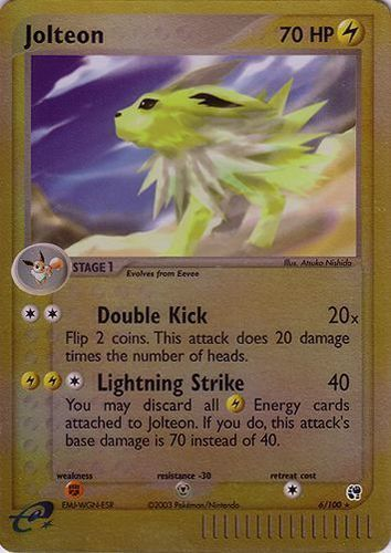 Jolteon card for EX Sandstorm