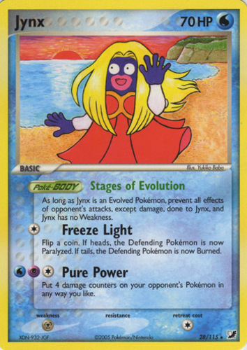 Jynx card for EX Unseen Forces