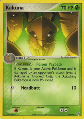 Kakuna card for EX FireRed & LeafGreen
