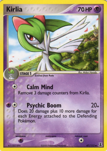 Kirlia card for EX Delta Species