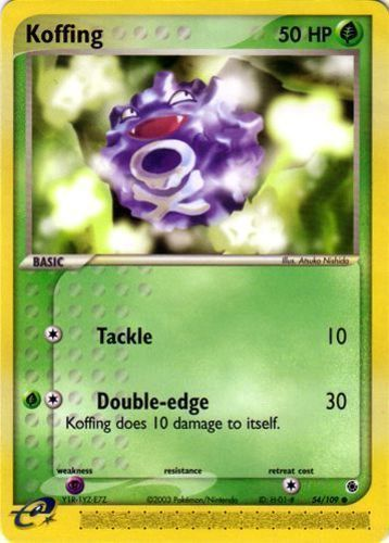 Koffing card for EX Ruby & Sapphire