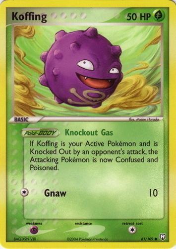 Koffing card for EX Team Rocket Returns