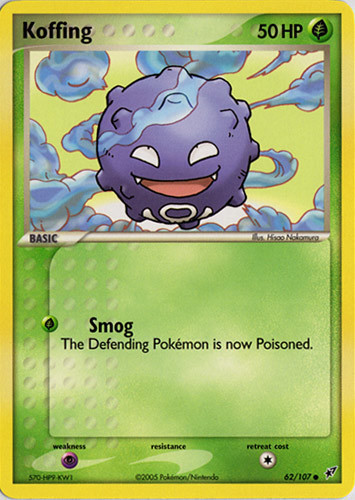 Koffing card for EX Deoxys