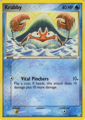 Krabby card for EX Crystal Guardians