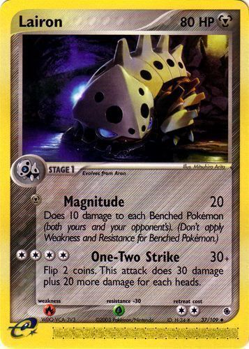 Lairon card for EX Ruby & Sapphire