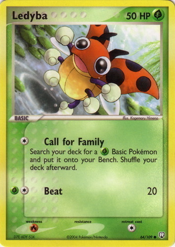 Ledyba card for EX Team Rocket Returns
