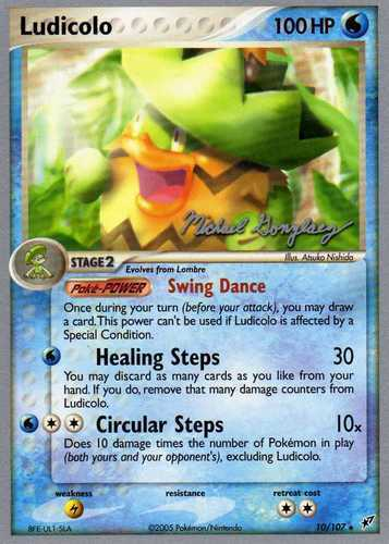 Ludicolo card for EX Deoxys