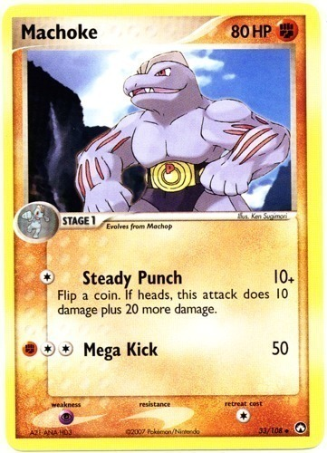 Machoke card for EX Power Keepers