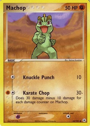 Machop card for EX Hidden Legends