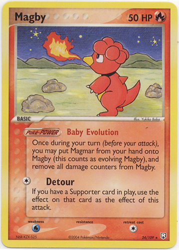 Magby card for EX Team Rocket Returns