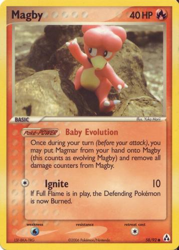 Magby card for EX Legend Maker