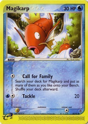 Magikarp card for EX Dragon