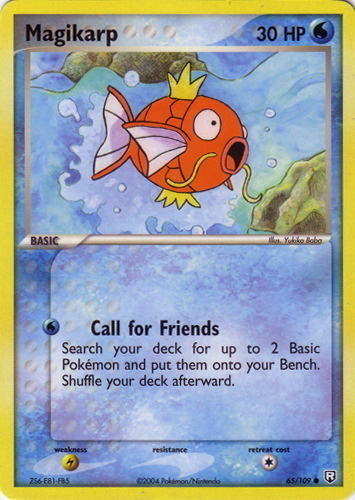 Magikarp card for EX Team Rocket Returns