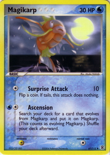 Magikarp card for EX FireRed & LeafGreen