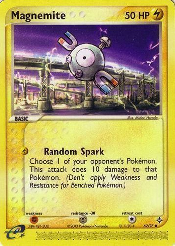 Magnemite card for EX Dragon