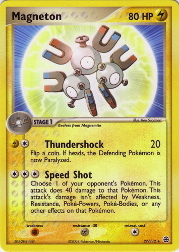 Magneton card for EX FireRed & LeafGreen