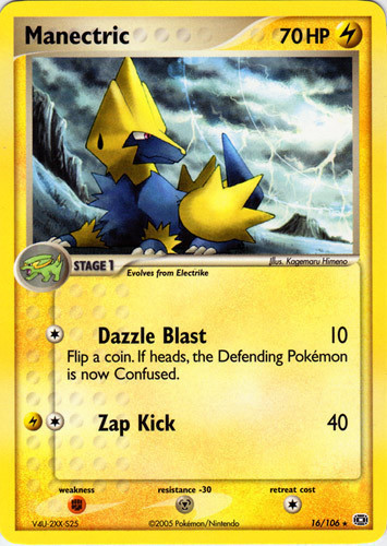 Manectric card for EX Emerald