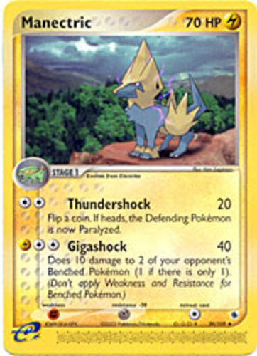 Manectric card for EX Ruby & Sapphire