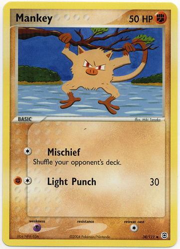 Mankey card for EX FireRed & LeafGreen