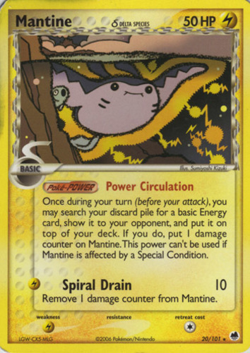 Mantine card for EX Dragon Frontiers