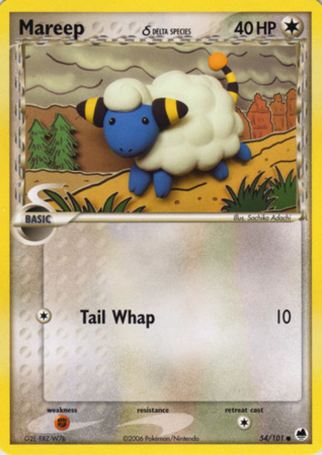 Mareep card for EX Dragon Frontiers