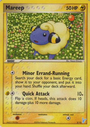 Mareep card for EX Team Rocket Returns