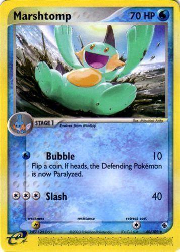 Marshtomp card for EX Ruby & Sapphire