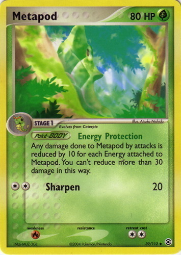 Metapod card for EX FireRed & LeafGreen