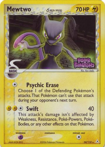 Mewtwo card for EX Holon Phantoms