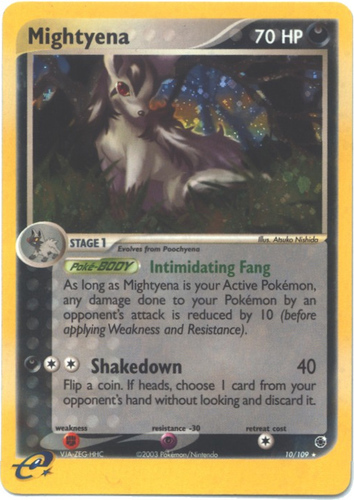 Mightyena card for EX Ruby & Sapphire