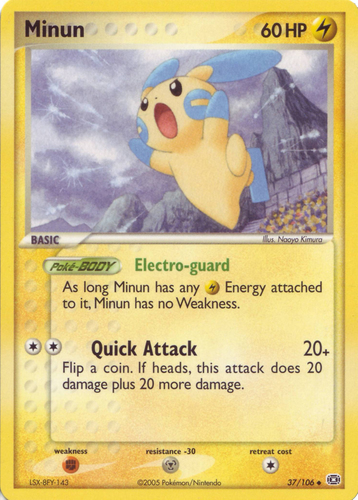 Minun card for EX Emerald