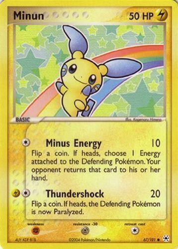 Minun card for EX Hidden Legends