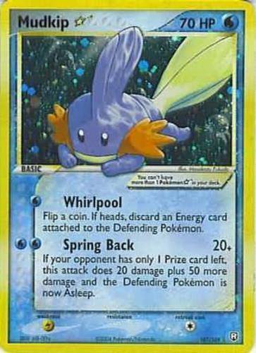 Mudkip card for EX Team Rocket Returns