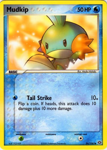 Mudkip card for EX Emerald