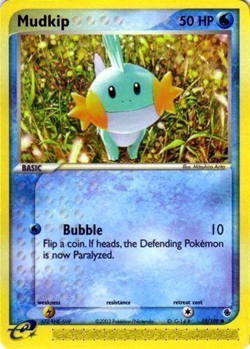 Mudkip card for EX Ruby & Sapphire