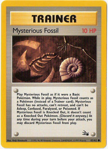 Mysterious Fossil card for EX Sandstorm