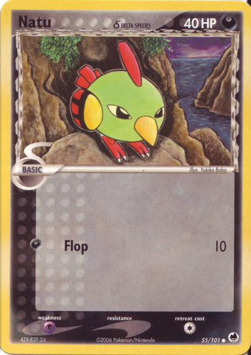 Natu card for EX Dragon Frontiers